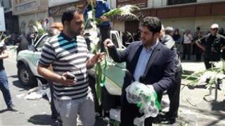 خدمات رسانی شهرداری ناحیه 2 در حاشیه مراسم تشییع شهدای حادثه تروریستی در دانشگاه تهران