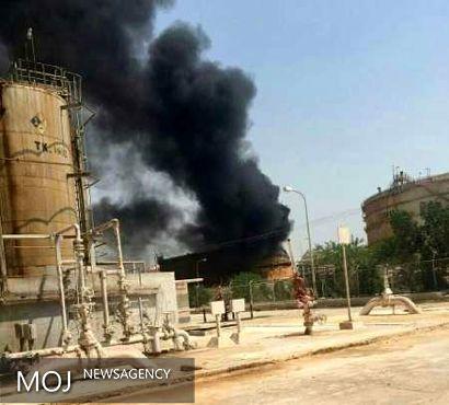 آتش سوزی در مجتمع پتروشیمی بوعلی سینا ماهشهر