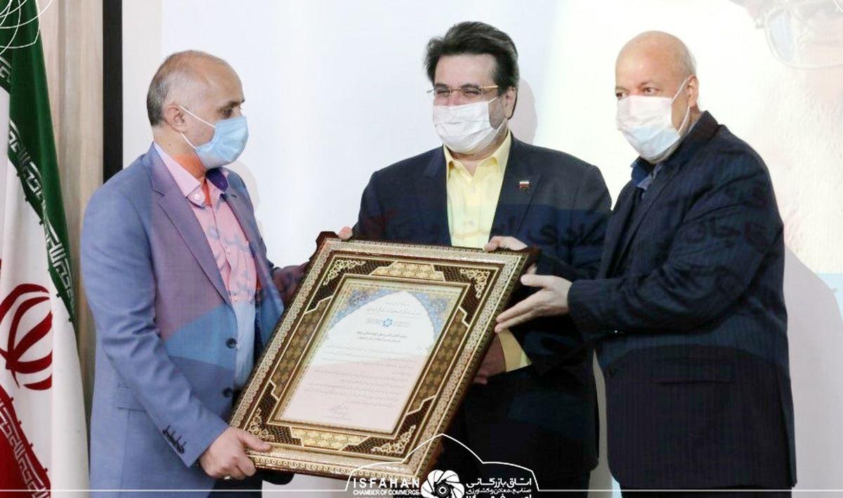 رئیس اتاق بازرگانی اصفهان از مدیرکل گمرکات استان اصفهان تقدیر کرد