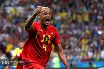 برتری بلژیک مقابل برزیل در نیمه نخست