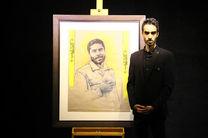 افتتاح همزمان نمایشگاه سربندهای ماه و رونمایی از اثر نقاشی غریبه در حوزه هنری