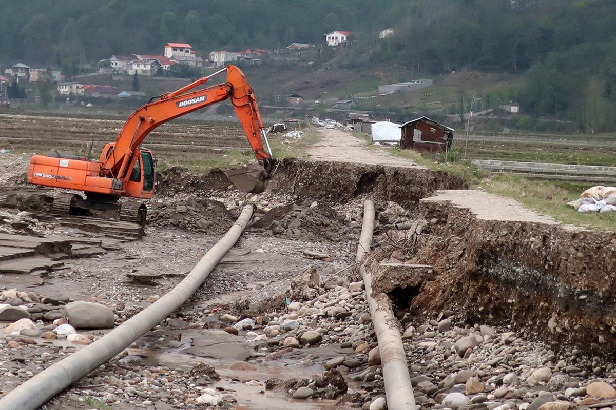 خسارت 24 میلیاردی سیل به شبکه گاز رسانی مازندران