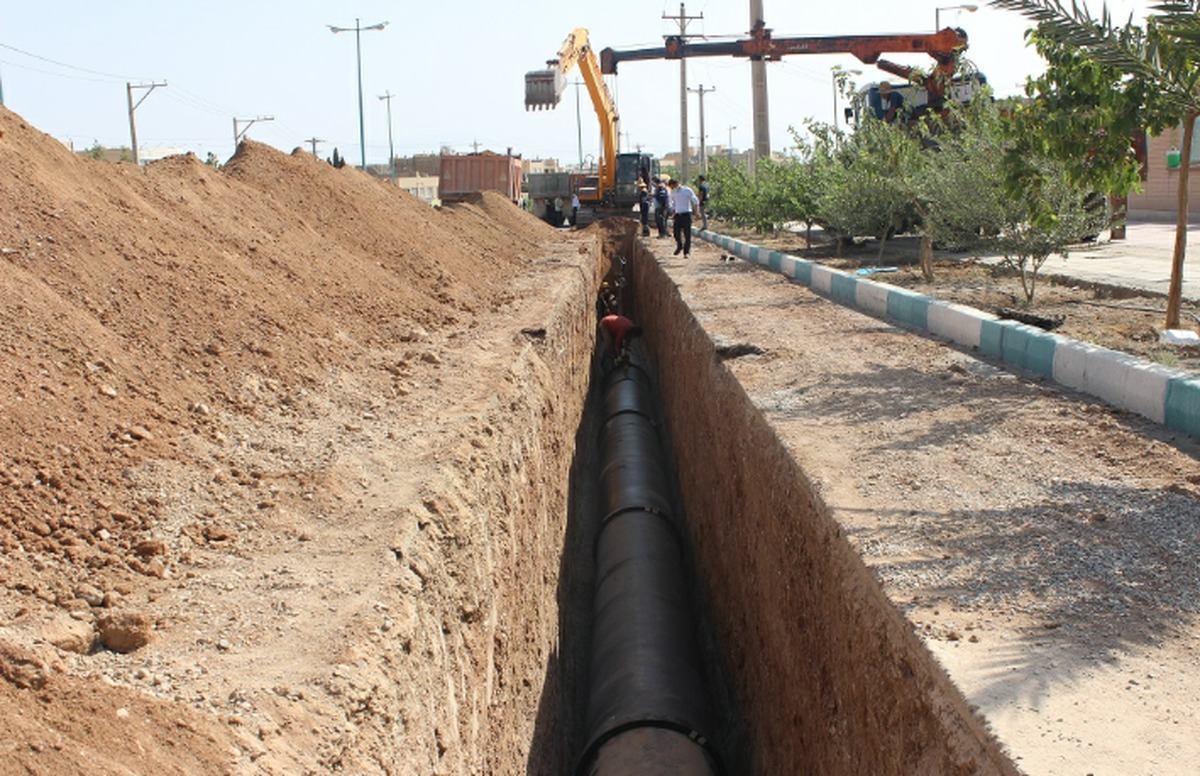 اجرای بیش از4 کیلومتر خطوط آبرسانی پروژه رینگ آب یزد