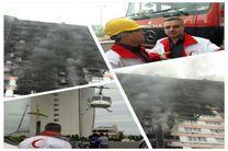 اعزام یک فروند بالگرد برای امدادرسانی در حادثه برج طاووس انزلی / ارائه خدمات درمان سرپایی به ۱۴ مصدوم