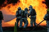 آتش سوزی لوله های پلی اتلین آب در شهر حمزه دزفول