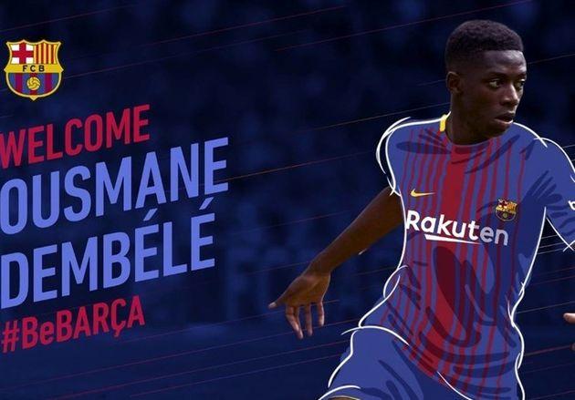 عثمان دمبله به بارسلونا پیوست