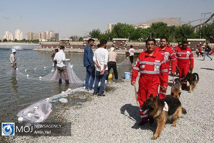 مانور سگ های امداد و نجات هلال احمر