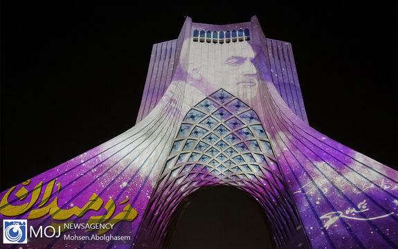 ویدیو مپینگ برج آزادی به مناسبت سالگرد شهادت سردار سلیمانی