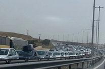 ترافیک نیمه سنگین در محور بجنورد به جنگل گلستان