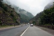 بارش باران در محورهای استان مازندران