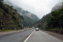بارش باران در برخی جادههای کشور