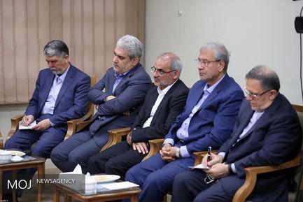 دیدار رییسجمهوری و اعضای هیات دولت با مقام معظم رهبری