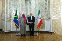 ظریف با وزیر امور خارجه آفریقای جنوبی دیدار کرد