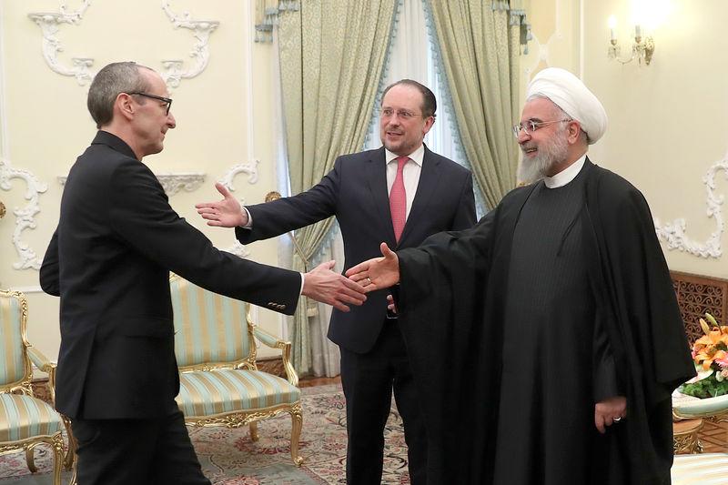 حسن روحانی با وزیر خارجه اتریش دیدار کرد