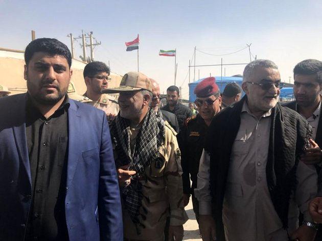 هیاتی از کمیسیون امنیت ملی از مرز شلمچه بازدید کردند