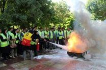 آموزش اطفای حریق به پرسنل سازمان فناوری اطلاعات و ارتباطات شهرداری تهران