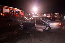 تصادف 4 خودروی سواری با تریلی/ 2 نفر فوت شدند