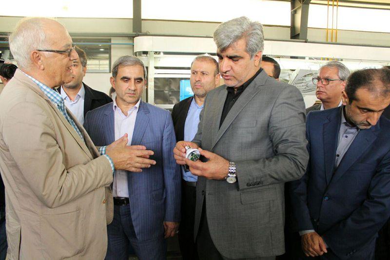 افتتاح واحد تولید صنایع روشنایی در شهر صنعتی رشت+تصویر