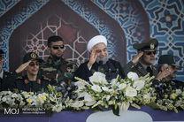 مراسم رژه نیروهای مسلح با حضور رییس جمهور