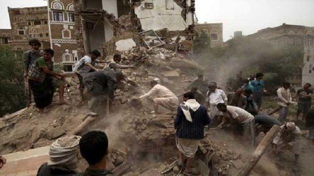 جنگنده های رژیم سعودی به انبارهای مواد غذایی در صنعاء حمله کردند