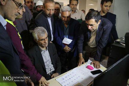 بازدید محمد علی افشانی شهردار تهران از خط 7 مترو