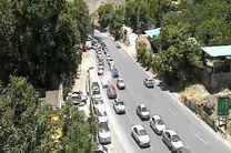 ترافیک نیمه سنگین درجاده چالوس /اجرای محدودیت ترافیکی با 2ساعت تاخیر