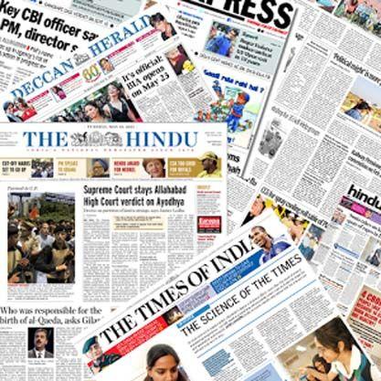 مهمترین عناوین روزنامه های امروز شنبه هند