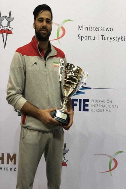 نایب قهرمانی دانشجوی واحد رشت در مسابقات شمشیربازی جام جهانی اسلحه سابر لهستان
