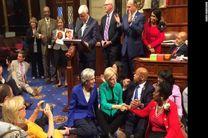 تحصن بیسابقه در کنگره آمریکا