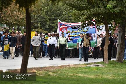 راهپیمایی روز ۱۳ آبان در خرم آباد