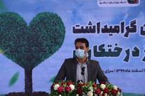 توسعه فضای سبز با حضور فرماندار بافق