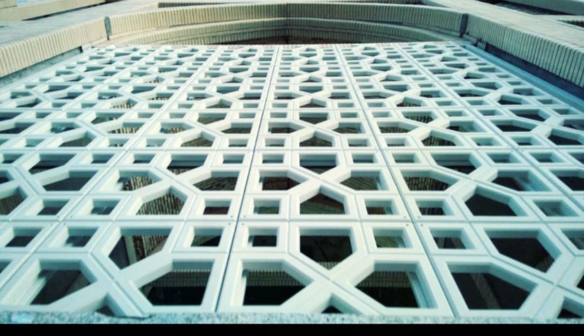تولید و طراحی پنلهای مشبک در پردیس فناوری و صنعتی دانشگاه یزد