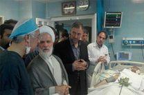 نماینده مردم کرمانشاه در مجلس خبرگان رهبری از جهادگران حادثهدیده عیادت کرد