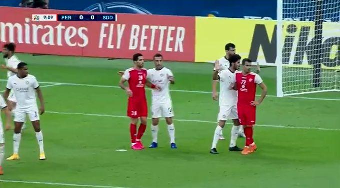 نتیجه بازی پرسپولیس و السد در نیمه نخست