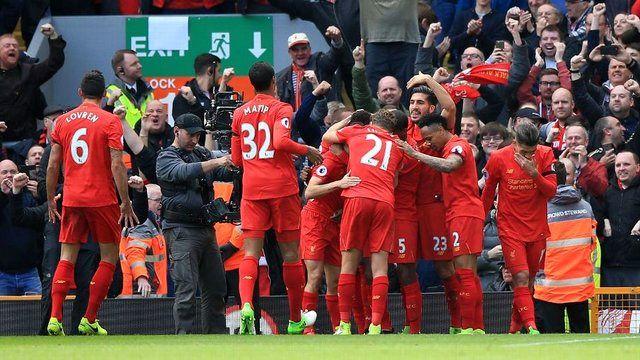 لیورپول با نتیجه 3-0 برابر منچسترسیتی به برتری دست یافت