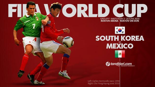 ترکیب تیم ملی فوتبال مکزیک و کره جنوبی مشخص شد