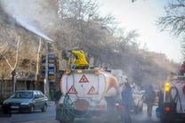 ضد عفونی کردن معابر در شهرستان آران و بیدگل
