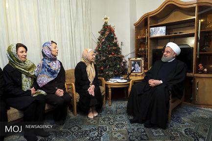 دیدار رییس جمهوری با خانواده شهیدان