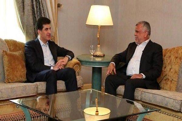 دیدار رئیس ائتلاف الفتح عراق با رئیس حزب دموکرات کردستان