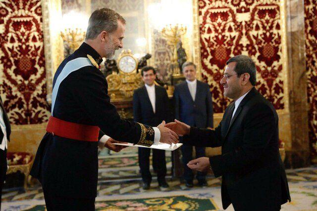 قشقاوی با پادشاه اسپانیا دیدار کرد