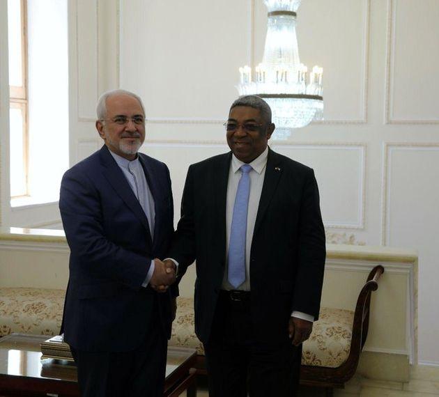 ظریف همتای کنگویی خود و رئیس مجلس ماداگاسکار دیدار کرد
