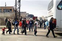 خروج چهارمین کاروان تروریستها از شهرک «الوعر» در حمص