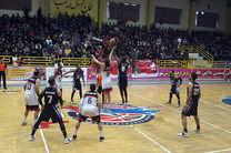 پیکار تیم بسکتبال مهتاب قم مقابل یسآل گرگان