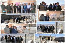 بازدید مسئولین شهرستان لنجان از فعالیت های گروه های جهادی بسیج و ذوب آهن