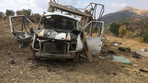 خودروی حامل نظامیان ارتش ترکیه در شرق این کشور هدف قرار گرفت