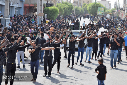 عزاداری عاشورای حسینی در شهرستان میناب استان هرمزگان