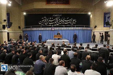 سوگواری شهادت امام علی(ع) با حضور مقام معظم رهبری