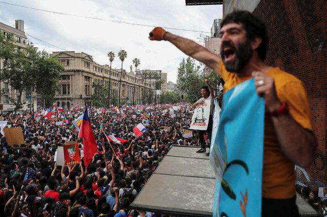 معترضان در شیلی خواستار استعفای رئیس جمهور این کشور شدند