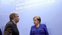 آنگلا مرکل و خلیفه حفتر در برلین با یکدیگر دیدار و گفتگو کردند