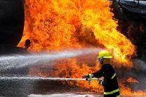 آتش سوزی یک انبار ابزار و یراق در خیابان هنگام